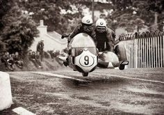 Arsenius Butscher,1970TT, 500cc race. Sidecar racer.