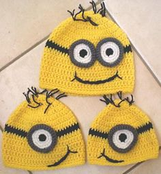 Free Crochet Pattern For Minion Eyes : 1000+ images about crochet ideas on Pinterest Minion ...