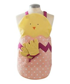 Take a look at this tag Yellow Chick Easter Apron & Oven Mitt - Kids by tag on #zulily today!