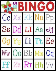 Letter A Printable Inspirational Abc Bingo