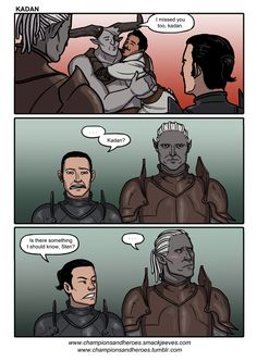 championsandheroes: Sten, talk to me. I feel like you aren't giving me the full picture here. Iron bull Kadan sten warden dragon age