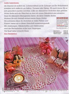 Crochet Knitting Artesanato: Crochet guardanapo