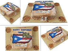Puerto Rico domino table cake.