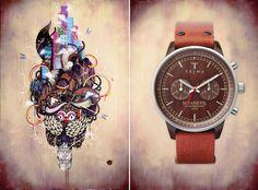 TRIWA x Supakitch & Koralie - Manga inspired watches and murals.