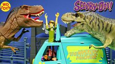 SCOOBY DOO Parody Adventure Wheels Mighty Megasaurus Vs T-Rex JURASSIC W...
