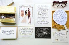 Custom Wedding Invitations, Rustic Garden Wedding