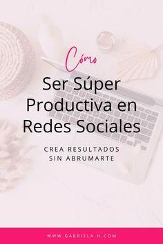 Si quieres aprender cómo ser productiva en redes sociales para tu negocio, este video es para ti. La Red, Instagram, Chaos Magic, Productivity, Girly, Business, Social Networks, Creativity