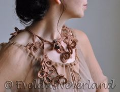 "It is a stylish and romantic accessory but at the same time joyful and flirtatious. I called this one ""Get Lucky"" because it reminds me of clover. It consists of many tripl... #lariat #neckwear #brown #eveldasneverland"