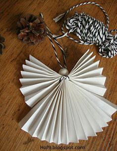 Crafts, DIY paper angels, folding angels out of paper, folding Christmas angels, Christmas … - Diy Home Decoration Christmas Night, Christmas Angels, Christmas Diy, Christmas Decorations, Diy Crafts To Do, Upcycled Crafts, Paper Crafts, Paper Angel, Papier Diy