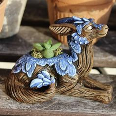 The home of sculptor Neal Coleman and his Arbori forest protectors. Neal creates home and garden products inspired by nature and fantasy. Succulent Cuttings, Planting Succulents, Crystal Dragon, Buy Electronics, Night Forest, Dragon 2, Flower Pots, Flowers, Live Plants