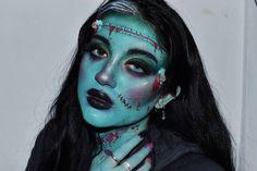 💚Frankie💚 Tenía muchas ganas de hacer a Frankenstein pero no sabía como ponerle mi estilo y hoy me salió así que estoy muy contenta con… Frankenstein, Halloween Makeup, Instagram, Style, Haloween Makeup, Halloween Make Up
