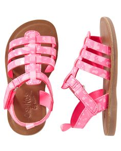 b8c284bc87ad Toddler Girl OshKosh Pink Splatter Sandals