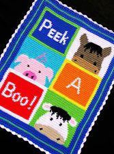 free crochet farm animal patterns   crochet animal afghan   eBay