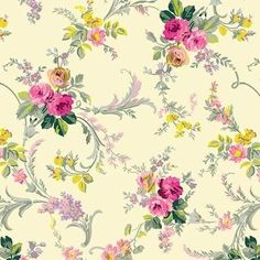 Anna Griffin fabric Grace gold wildflower scroll