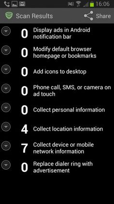 Lookout Ad Network Detector: Android apps advertisement scanner
