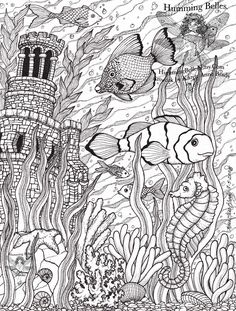 "Intricate Coloring Pages for Adults | ... Humming Belles"".....: New! Undersea Illustrations and Coloring Pages"