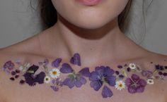 Pressed Flower Tattoos by TheThinkingHatt.com