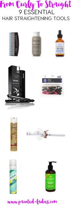 9 Essential Hair Straightening Tools - Painted Ladies