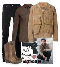 """Rick Grimmes : The Walking Dead"" by bianca-cazacu ❤ liked on Polyvore featuring Diesel Black Gold, Liberty Black, Bottega Veneta, Missoni, men's fashion, menswear, rick and thewalkingdead"