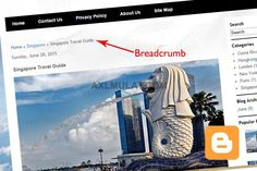 How To Add Breadcrumbs in Blogger Template Blogger Tutorial, Blogger Tips, Blogger Templates, Bread Crumbs, Costa Rica, Coding, Ads, London, Big Ben London