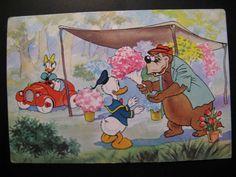 1964...Old vintage Postcard Walt Disney...Donald Duck and Katrien ao...