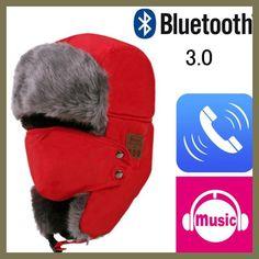 Venta Nuevo 2017 Suave del Invierno del Bombardero Caliente Sombreros  Unisex Cap Auriculares Auriculares Micrófono Altavoz Bluetooth Inalámbrico  Inteligente ... e0f7ce7a3380