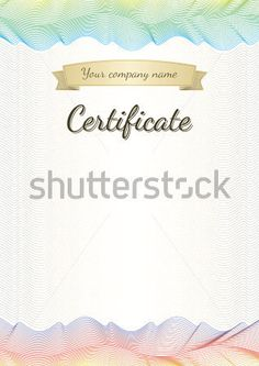 Certificate by Andrej Kaprinay, via Behance