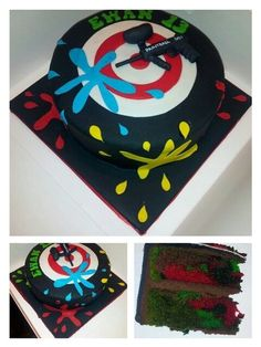 Paintball - by Jan @ CakesDecor.com - cake decorating website