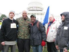 With Sgt. Thomas at Occupy Congress!