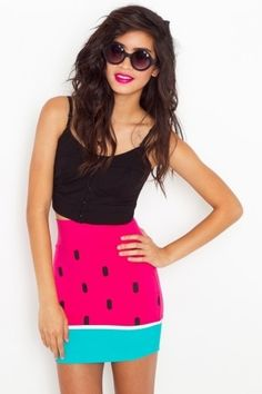 Watermelon Skirt - NASTY GAL - StyleSays
