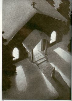 Chris Van Allsburg.  OK, it's not pen & ink...