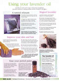 Using Lavender oil
