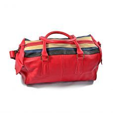 Palermo Duffle Bag/ Sportsbag Red and Stripes
