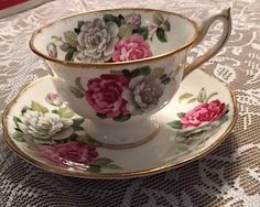 ROYAL ALBERT-Bone China tea cup and saucer – Evening Rhapsody – Made in England - Vintage by Cachebuster on Etsy