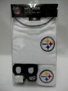 Steelers Baby Boxed Creeper, Bib and Booties Set Pittsburgh Steelers Merchandise, Baby Box, Creepers, Nuthatches