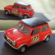 Politoys-M No. 582 Mini-Cooper Rallye Startnr. 177 1:25