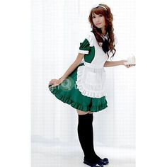 Bowknot Headband Servant Girl Cosplay Costume Lolita Dress Maid Suit - $21.75