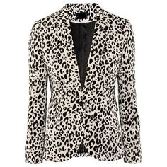 Leopard Printed Stunning Lapel Blazers (1.960 RUB) ❤ liked on Polyvore featuring outerwear, jackets, blazers, long jacket, cotton jacket, lapel blazer, leopard print blazers and long blazer