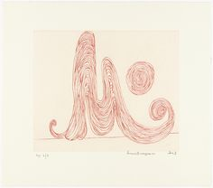 Louise Bourgeois (American, born France. 1911–2010). M is for Mother, plate 4 of 7, from the portfolio, La Réparation. 2003. Drypoint.