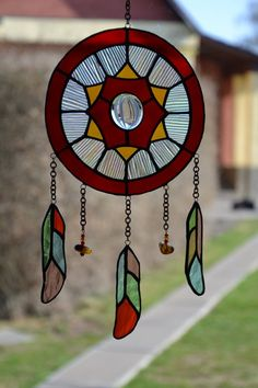 """Real Stained Glass Suncatcher  6/"""" x 6/"""" Platinum Plated Quilt Square,Sun Catcher"""