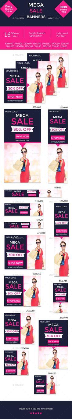 Mega Sale Banners
