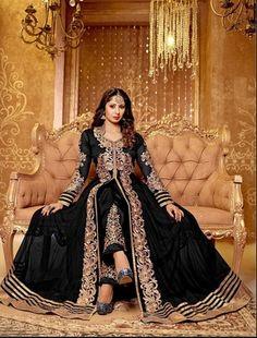 Attractive Sangita Ghosh Black Anarkali Suit By Thankar Anarkali Suits
