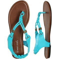 Braided T-Strap Sandal ($15) ❤ liked on Polyvore featuring shoes, sandals, braided shoes, t strap shoes, sling back shoes, slingback sandals and t-bar sandals