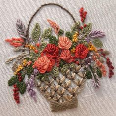 brazilian embroidery for beginners Bullion Embroidery, Brazilian Embroidery Stitches, Hand Embroidery Videos, Hand Embroidery Flowers, Hand Work Embroidery, Silk Ribbon Embroidery, Hand Embroidery Patterns, Embroidery Kits, Embroidery Designs