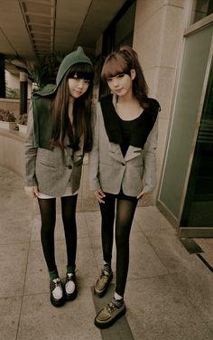 Ulzzang Girls Creepers shoes Skinny asian girls Korean Fashion