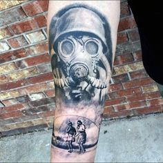 Get ready for a big inhale and discover these 100 gas mask tattoo designs for men. From explosive fallout to fumes in the air, there's plenty to admire. Forearm Tattoos, Sleeve Tattoos, Tattoos For Guys, Cool Tattoos, Tatoos, Mask Tattoo, Tattoo Art, Graffiti Drawing, Art Drawings