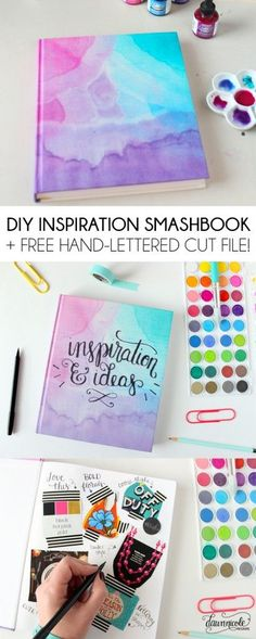Best DIY Gifts for Girls - DIY Inspiration Smashbook - Cute Crafts and . - DIY and DIY Decorations,Best DIY Gifts for Girls - DIY Inspiration Smashbook - Cute Crafts and . Innovative Home Decor Ideas Designing hom. Smash Book, Diy Y Manualidades, Diy Inspiration, Ideias Diy, Diy School Supplies, Craft Supplies, Diy For Girls, Cute Things For Girls, Teen Diy