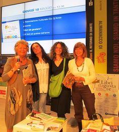 Libri da gustare. Le autrici di Ciccio Tuttapancia al Salone per annunciare il libro finalista al concorso.