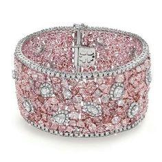 Pink Jewelry, Jewelry Gifts, Tiffany Jewelry, Pink Diamond Bracelets, Diamond Rings, Diamond Knot, Uncut Diamond, Diamond Bangle, Diamond Pendant