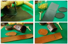 Handmade Cylinder Shaped  Leather  Coin Purse
